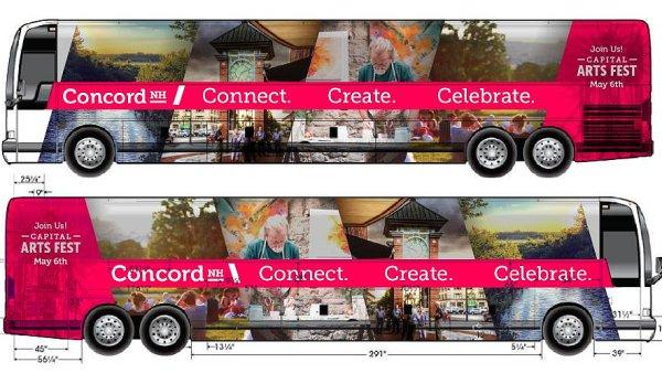 Vizuál lokální kampaně na festival ve městě Concord