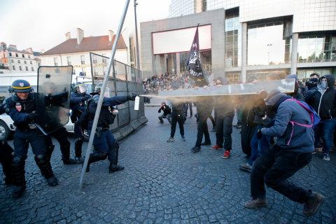 Demonstrace po francouzských volbách, Paříž