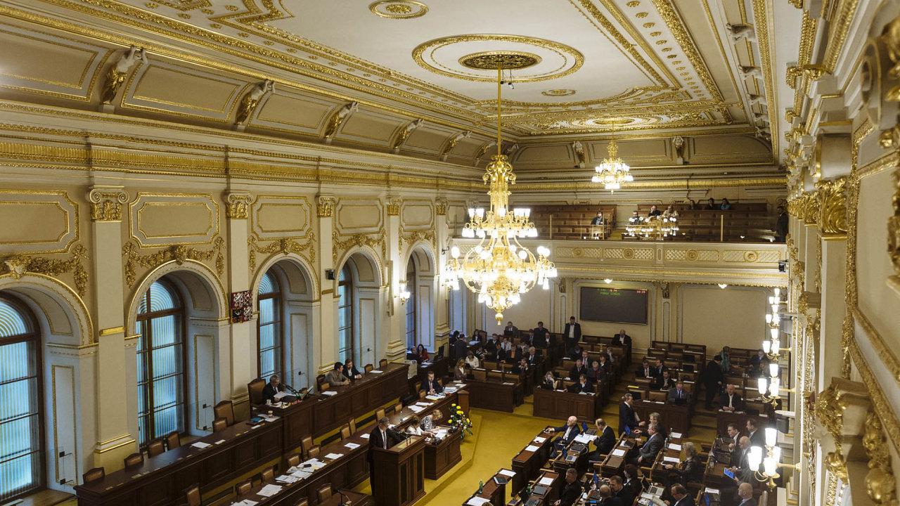 Hlavní sál Poslanecké sněmovny - Ilustrační foto.