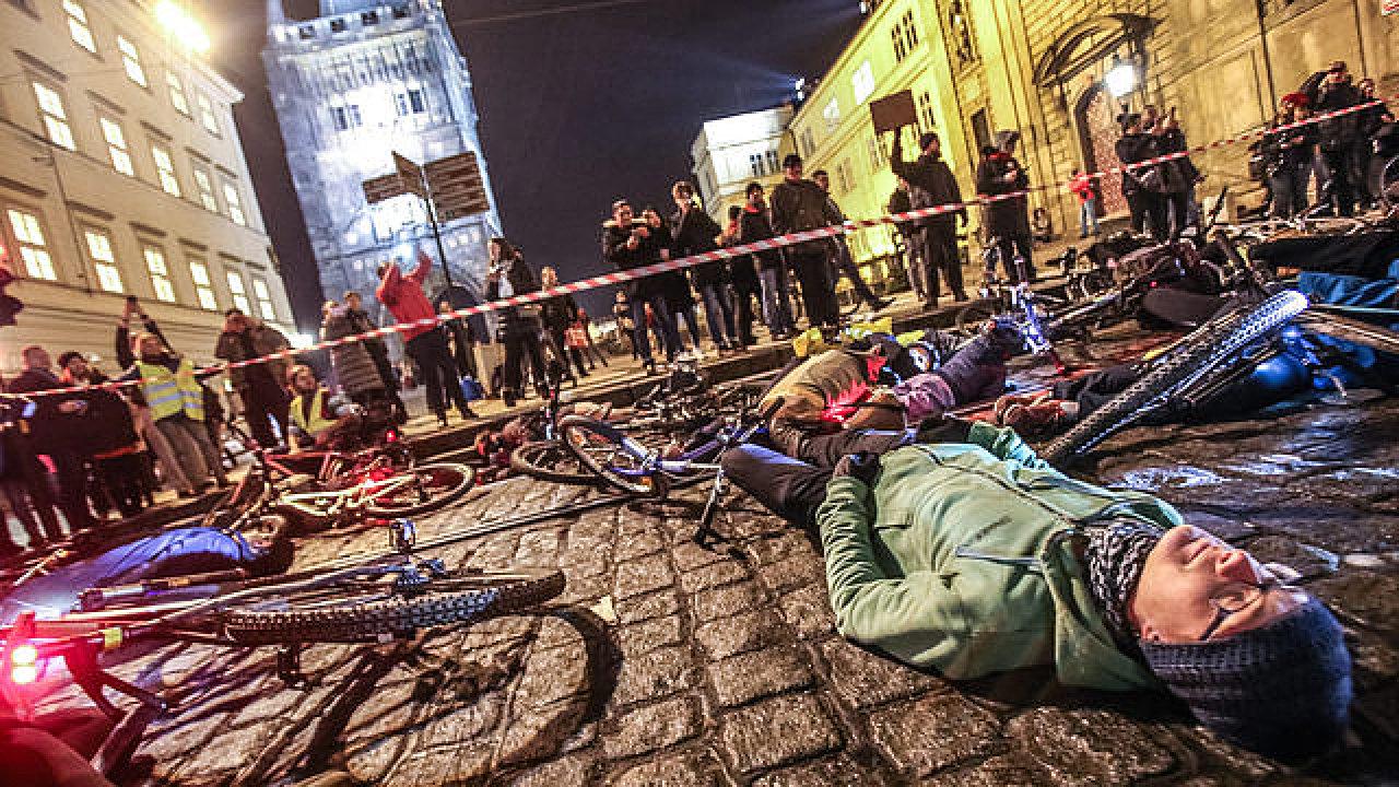 Protesty cyklistů v Praze