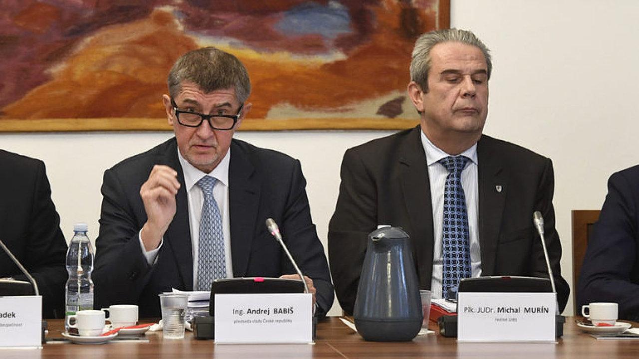 Premiér v demisi Andrej Babiš a bývalý šéf GIBS Michal Murín.