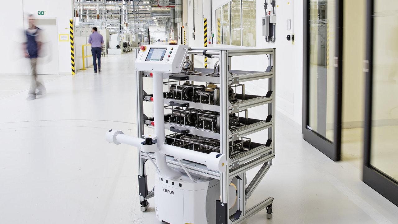 Pozor, projíždí tudy robot! První místo v kategorii Top logistický projekt v soutěži Impuls Logistika získala Škoda Auto - za zavedení autonomní přepravy dílů v závodě ve Vrchlabí.