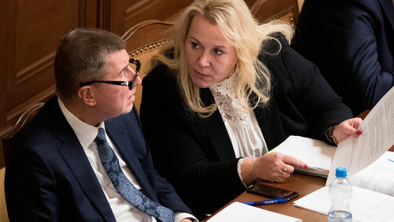 Odkud vzít peníze: Premiér Babiš aministryně Dostálová řeší, zda peníze pro rodiny půjde vzít zeurodotací.