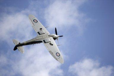 Kurt Taussig létal pro RAF v letounu spitfire - Ilustrační foto.
