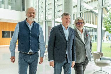 Trio z rozhovoru. Zleva: Pavel Baudiš, Miroslav Trnka, Eduard Kučera