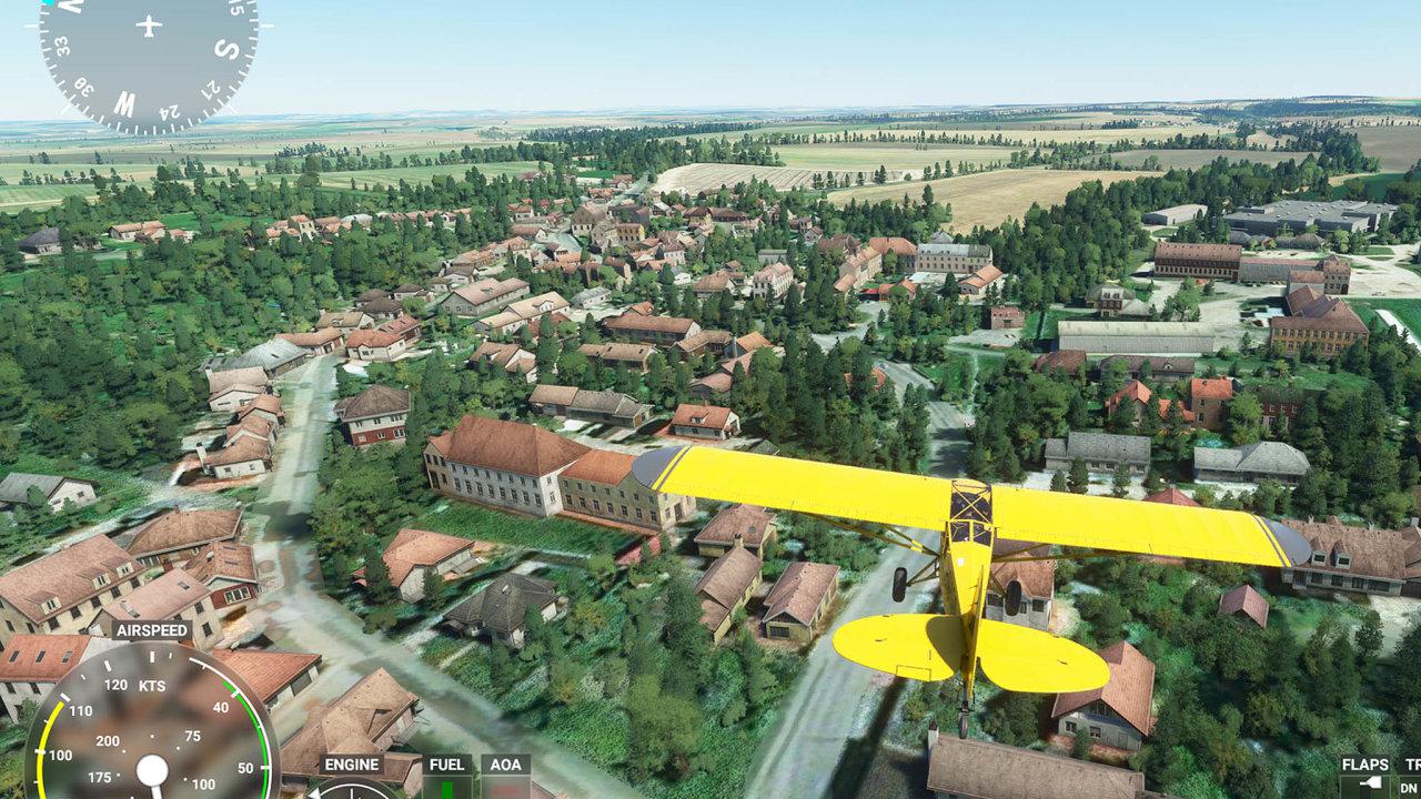 Microsoft Flight Simulator sleduje při letu všechny důležité údaje avyžaduje odpilota soustředění areakce jako vreálném letadle.