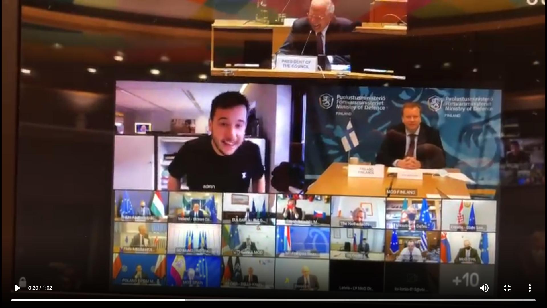 Videokonference ministrů obrany EU.