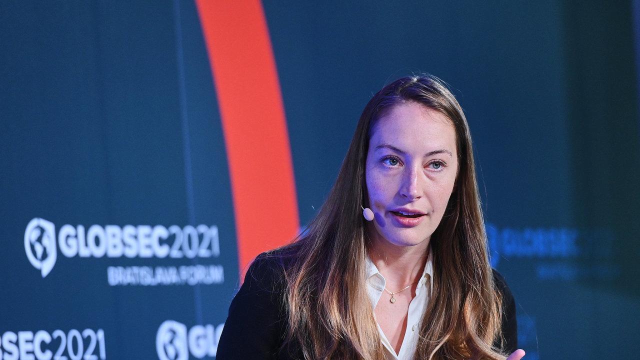 Kate Guyová, expertka na klimatickou změnu a bezpečnost na konferenci Globsec v roce 2021.
