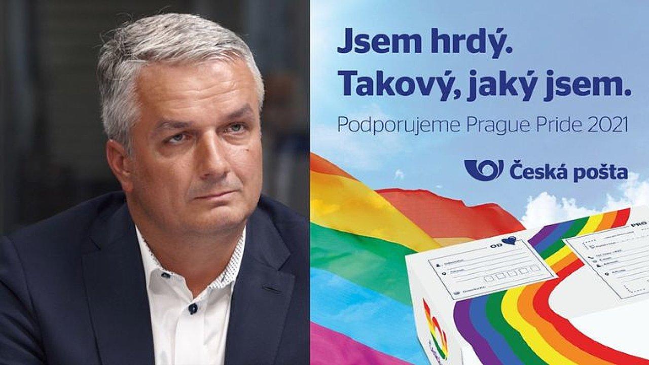 Agresivní reakce za podporu Prague Pride: Pošta nebude nikdy diskriminovat, říká Knap.