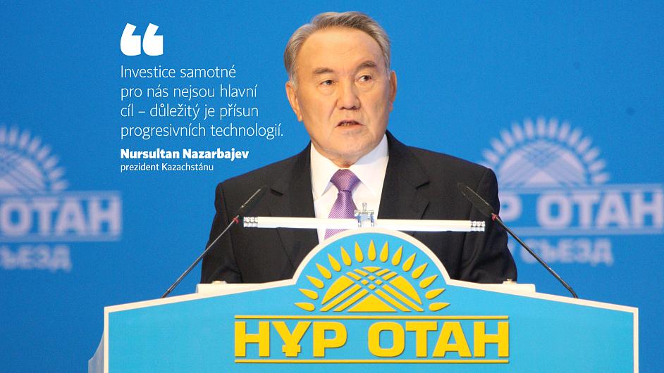 Kazašský prezident přiváží zakázky