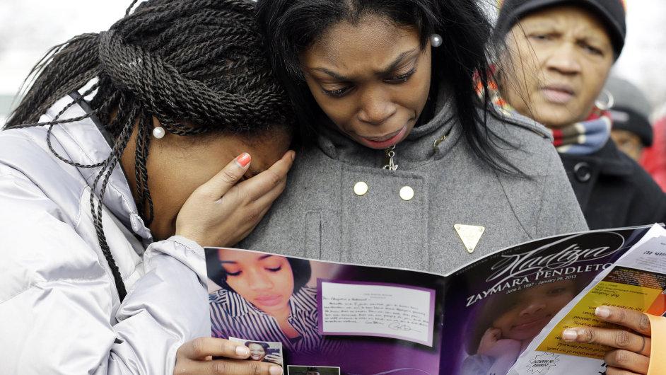 Pohřeb patnáctileté Hadíji Pendletonové