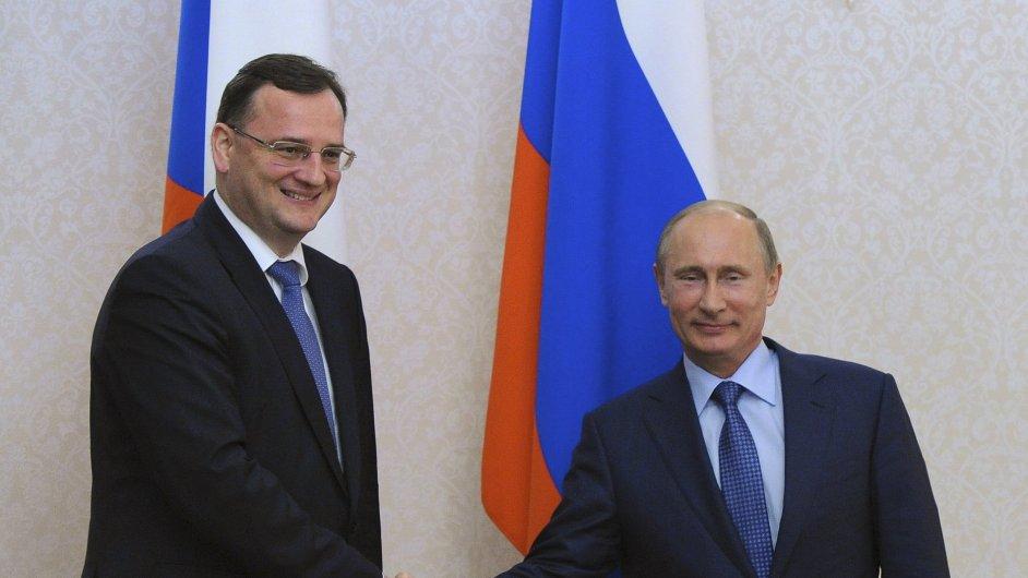 Český premiér Petr Nečas se v Soči setkal s ruským prezidentem Vladimirem Putinem.