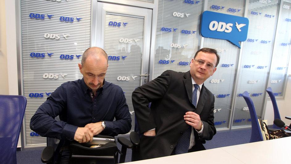 Petr Nečas (vpravo) a Martin Kuba