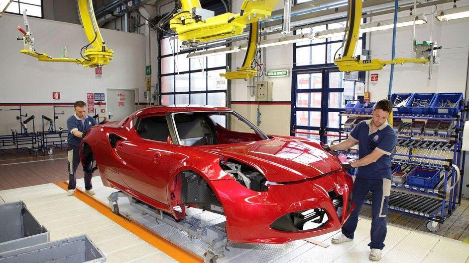 Alfa Romeo 4C ve výrobě