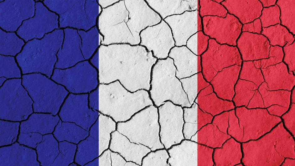 Vlajka Francie, ilustrační foto