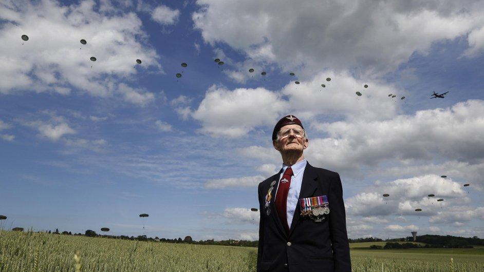 Britský veterán z Normandie Fred Glover