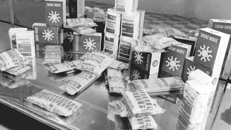Sortiment Zátkových těstovin z roku 1960