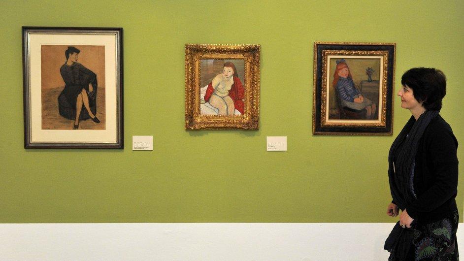 Snímky z výstavy Zastihla je noc. Čeští umělci ve Francii 1938-1945