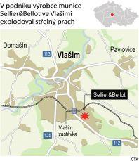 Výbuch, Vlašim, Sellier & Bellot - Infografika