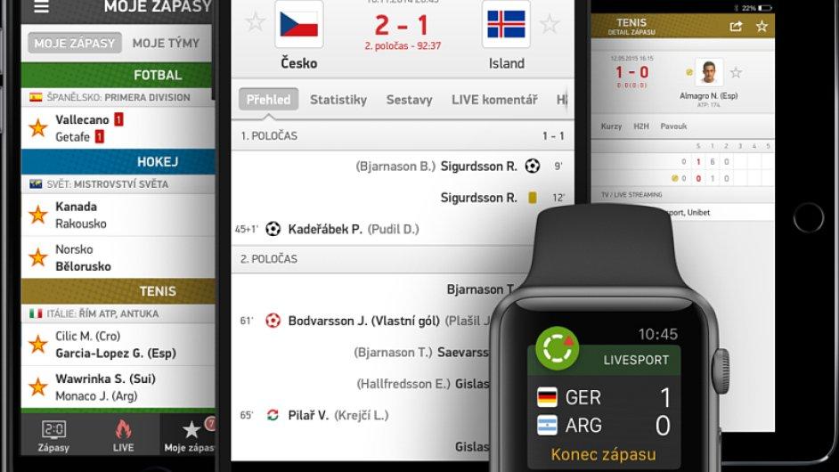 mobilní aplikace Flashscore