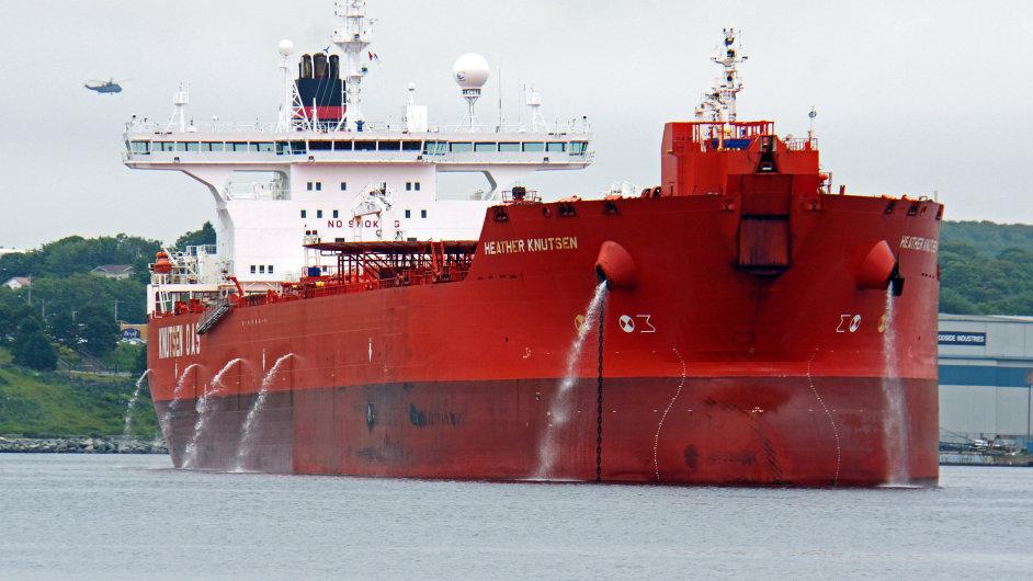 Norský tanker Heather Knutsen kotví v Halifaxu - Ilustrační foto.