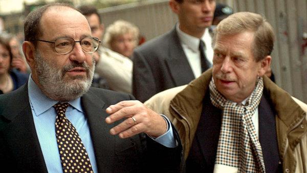 6. ��jna 2000 do Prahy p�ijel Umberto Eco a setkal se s V�clavem Havlem v pra�sk�m hotelu Ambassador.