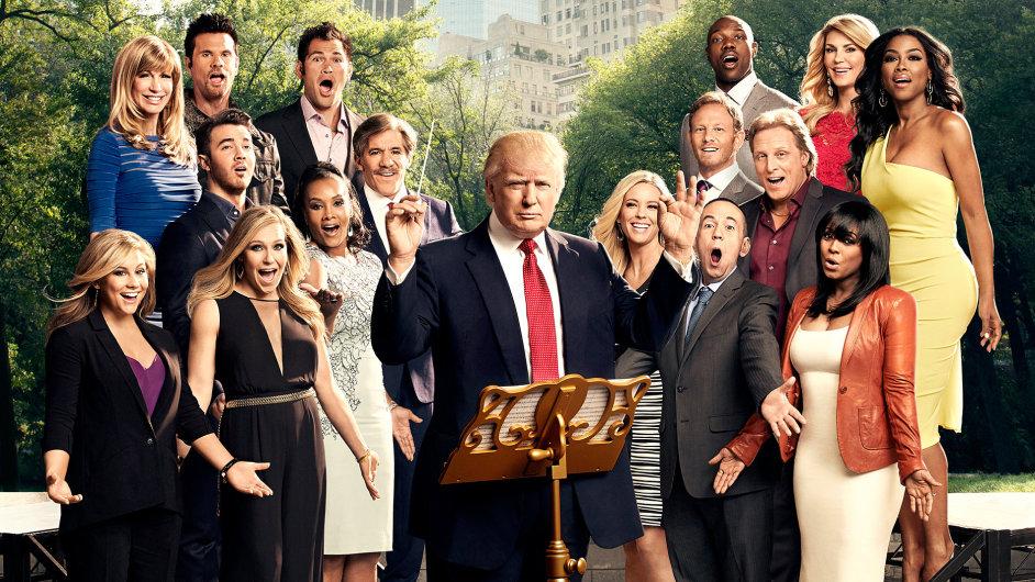 Donald Trump jako mentor podnikatelských nadějí v televizní reality show (ilustrační foto).
