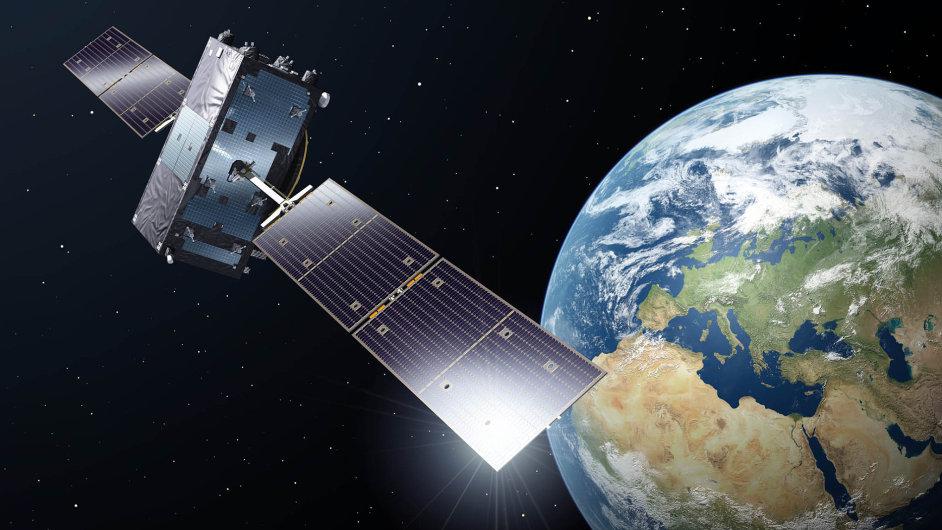 Vevesmíru. Satelit Galileo naoběžné dráze.