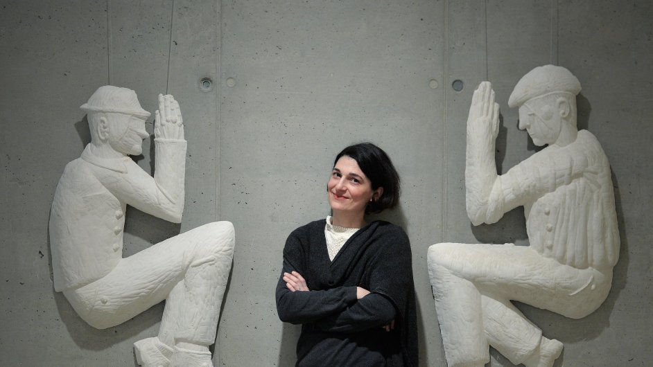 Snímek z výstavy Anny Hulačové.