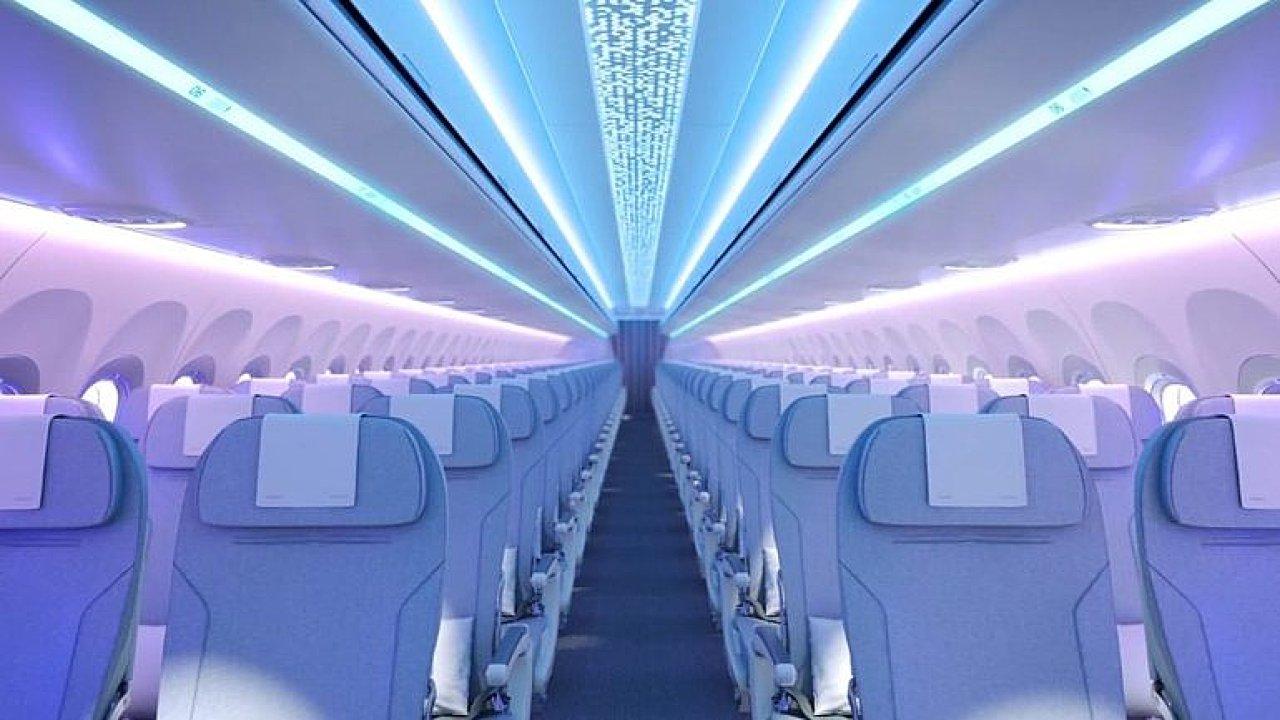 Nejširší letadlová kabina a luxusní záchodky. Airbus odhalil nový interiér rodiny A320.