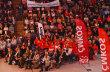 Velký manifestační mítink Českomoravské konfederace odborových svazů se odehrál v Praze.