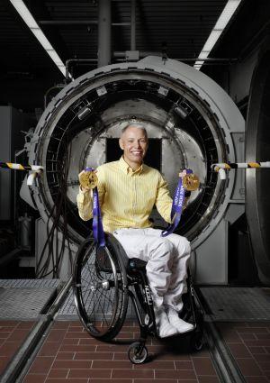 vozíček, paralympiáda, Andrea Eskauo