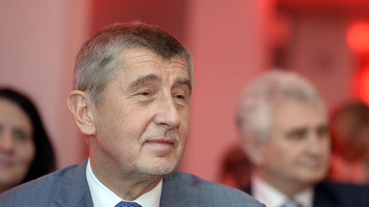 Předseda vlády v demisi a předseda hnutí ANO Andrej Babiš.
