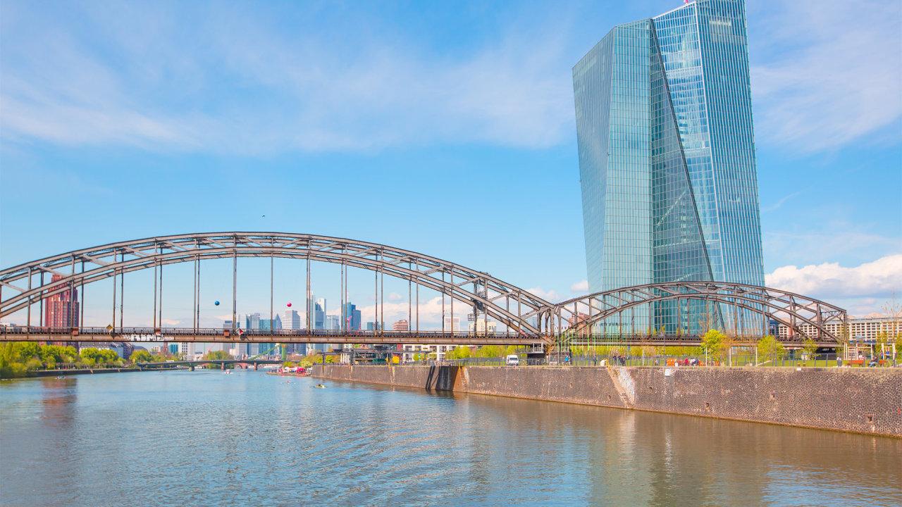 ECB, Evropská centrální banka, euro, eurozóna, Frankfurt, nová budova Evropské centrální banky