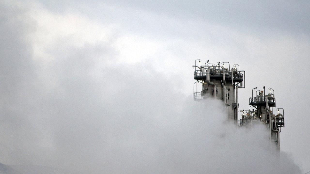 Na snímku část konstrukce těžkovodního reaktoru Arak v blízkosti města Arak, 250 kilometrů jihozápadně od hlavního města Teherán.
