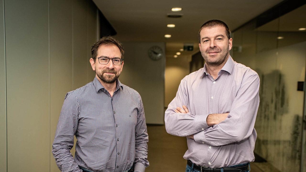 Lukáš Hájek (vlevo) i Jan Kubálek (vpravo) z Komerční banky