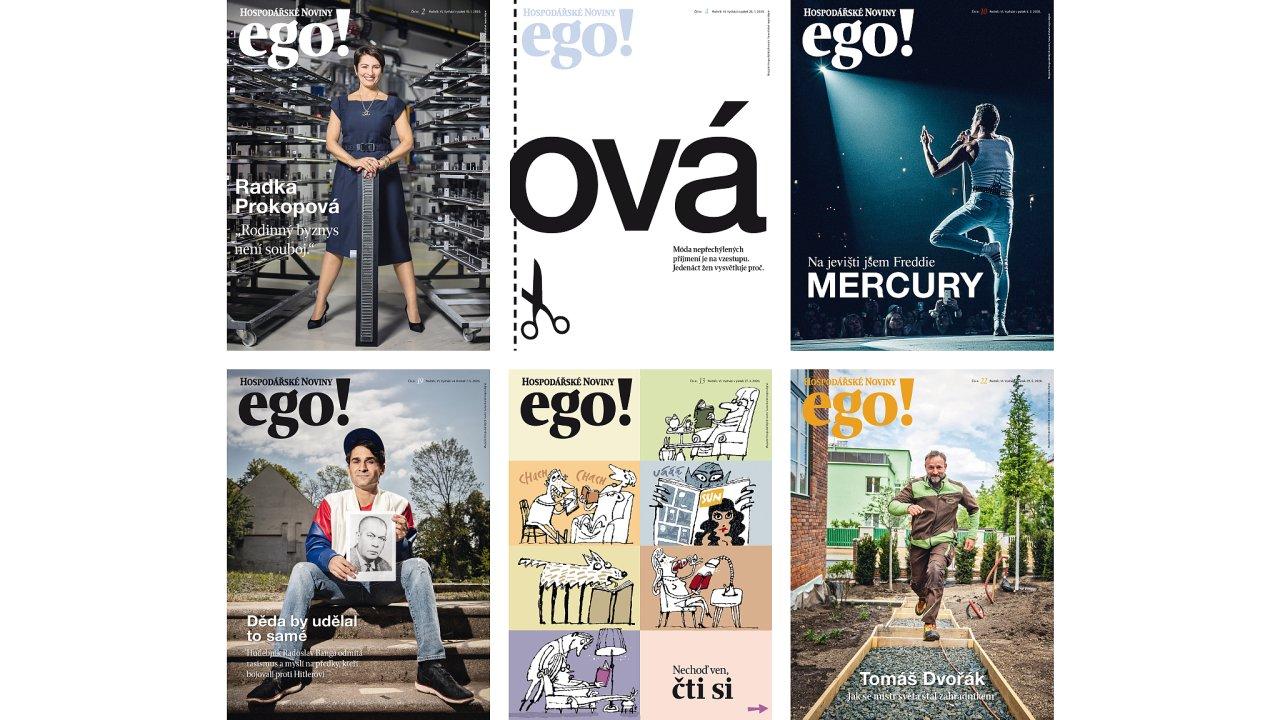 Obálky magazínu ego!
