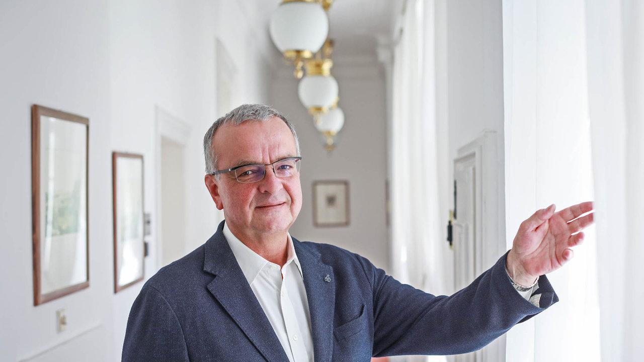 Šéf poslanců TOP 09 Miroslav Kalousek.