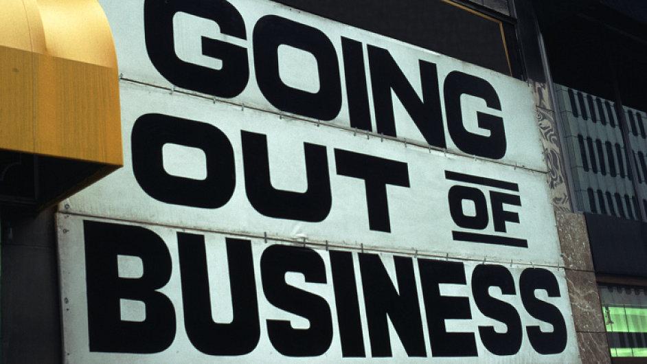 Ilustrační foto - Bankrot, konec byznysu -