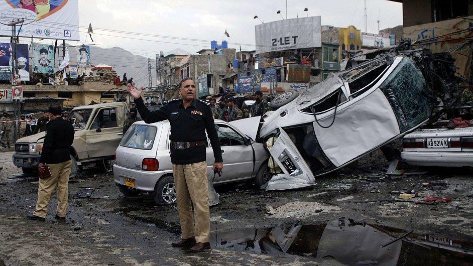 Čtvrteční útoky v Pákistánu