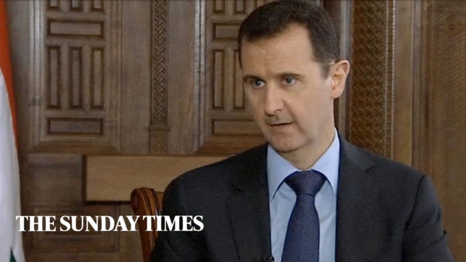 Syrský prezident Bašár Asad při rozhovoru pro Sunday Times