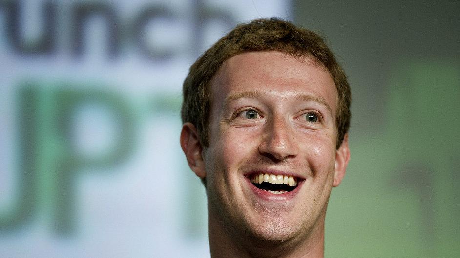 Zakladatel a šéf Facebooku Mark Zuckerberg