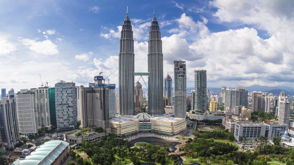 Veže Petronas v metropoli Kuala Lumpur