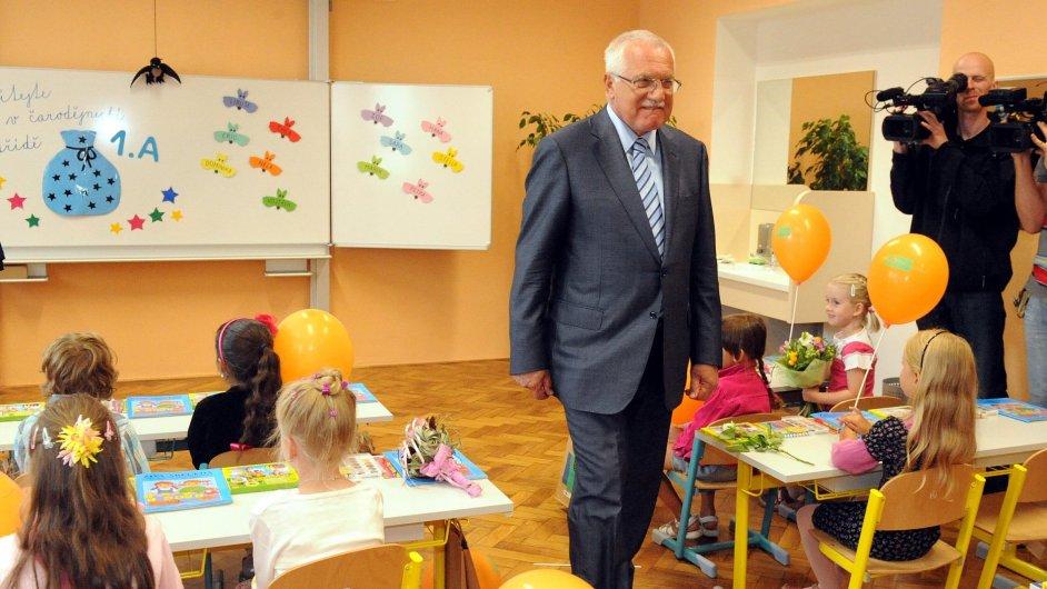 Prezident Klaus ve třídě PORG. Ilustrační foto