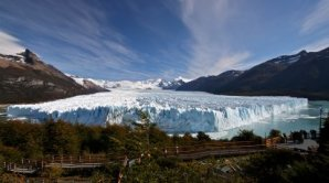 Pohled na ledovec Perito Moreno