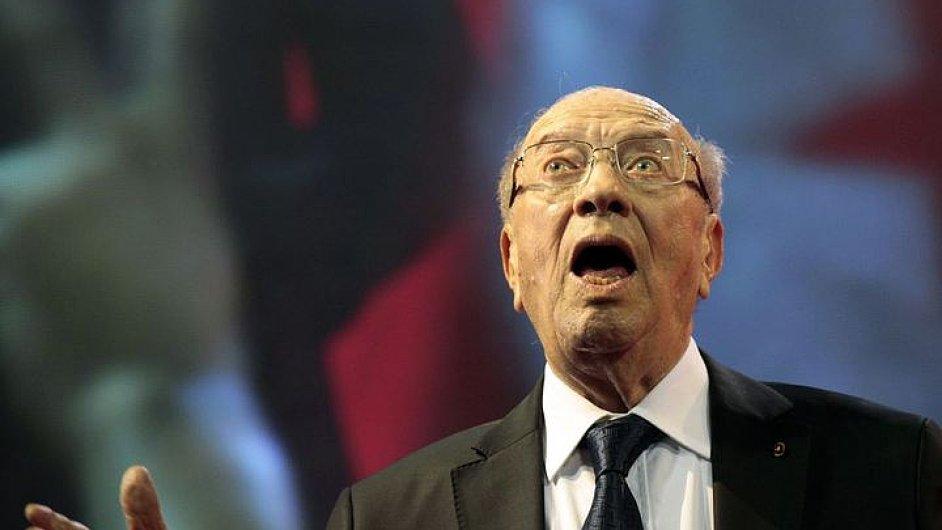Tuniský prezident Kaíd Sibsí
