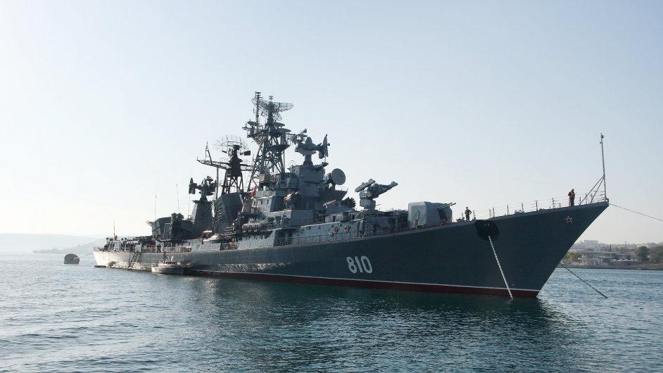 Ruská válečná loď - Ilustrační foto.