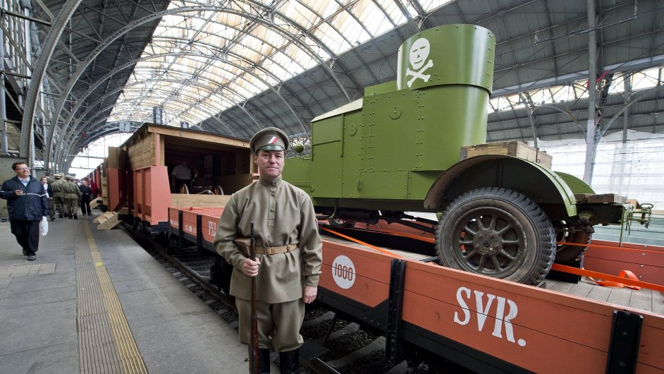 Replika vlaku legionářů vyjela na svou pouť po Česku.