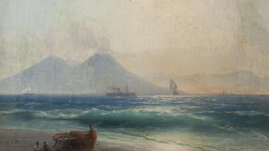 Ivan Konstantinovič Ajvazovskij: Pohled na Vesuv (1891)