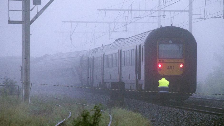Belgie srážka vlaků